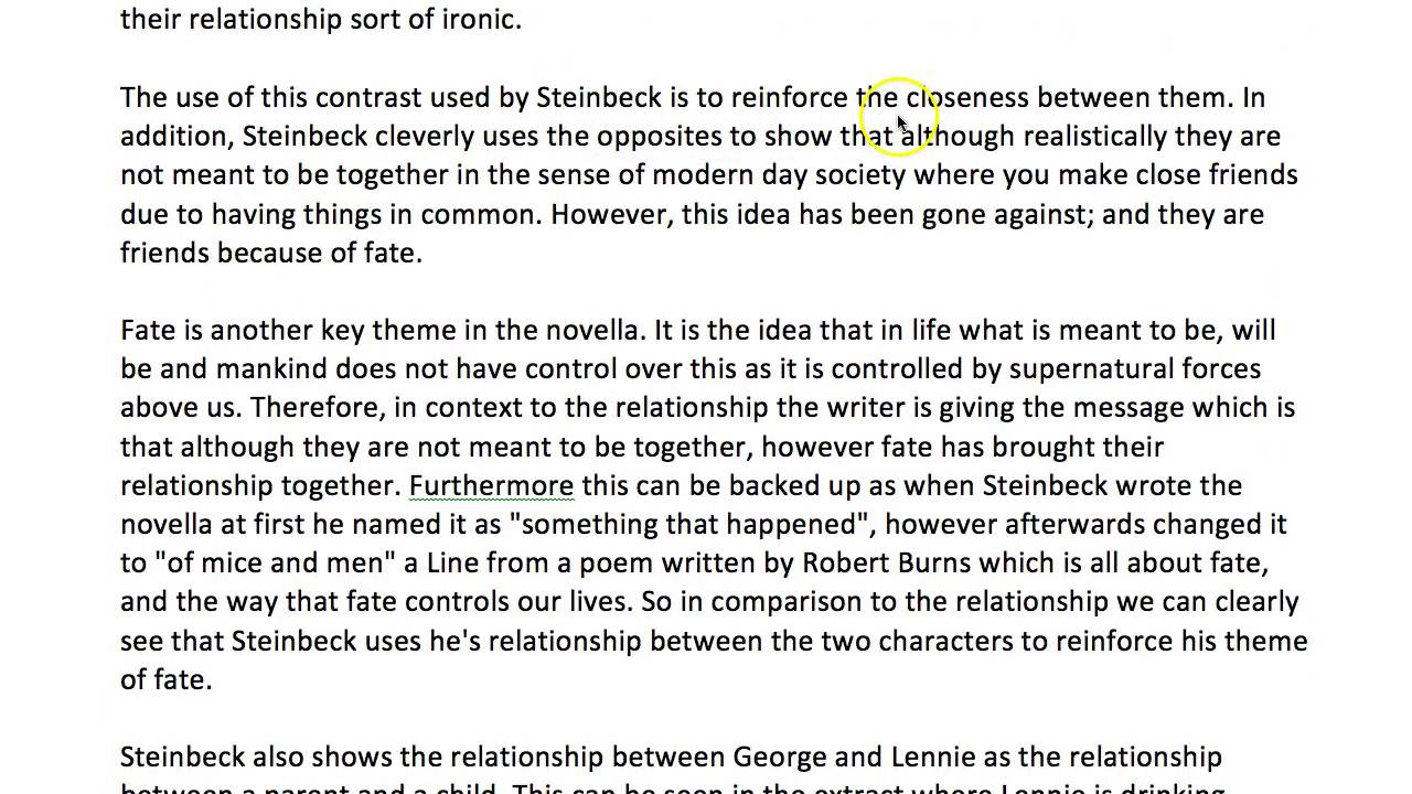 learn to write about the relationship between george and lennie in learn to write about the relationship between george and lennie in of mice and men thanks joshun