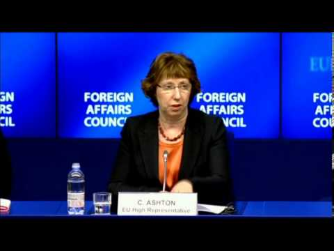 Catherin Ashton Press conference after Foreign Affairs Council on Egypt