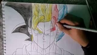 speed drawing goku dbs  en todas la fases excepto la fase 4