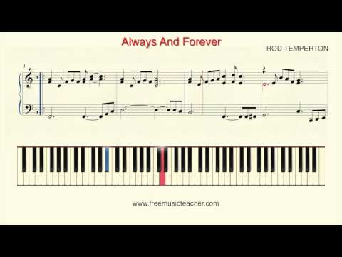 "How To Play Piano: ""Always And Forever"" Piano Tutorial by Ramin Yousefi"