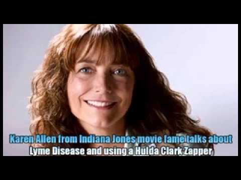Karen Allen from the movie Indiana Jones talks about Lyme Disease and the Hulda Clark Zapper