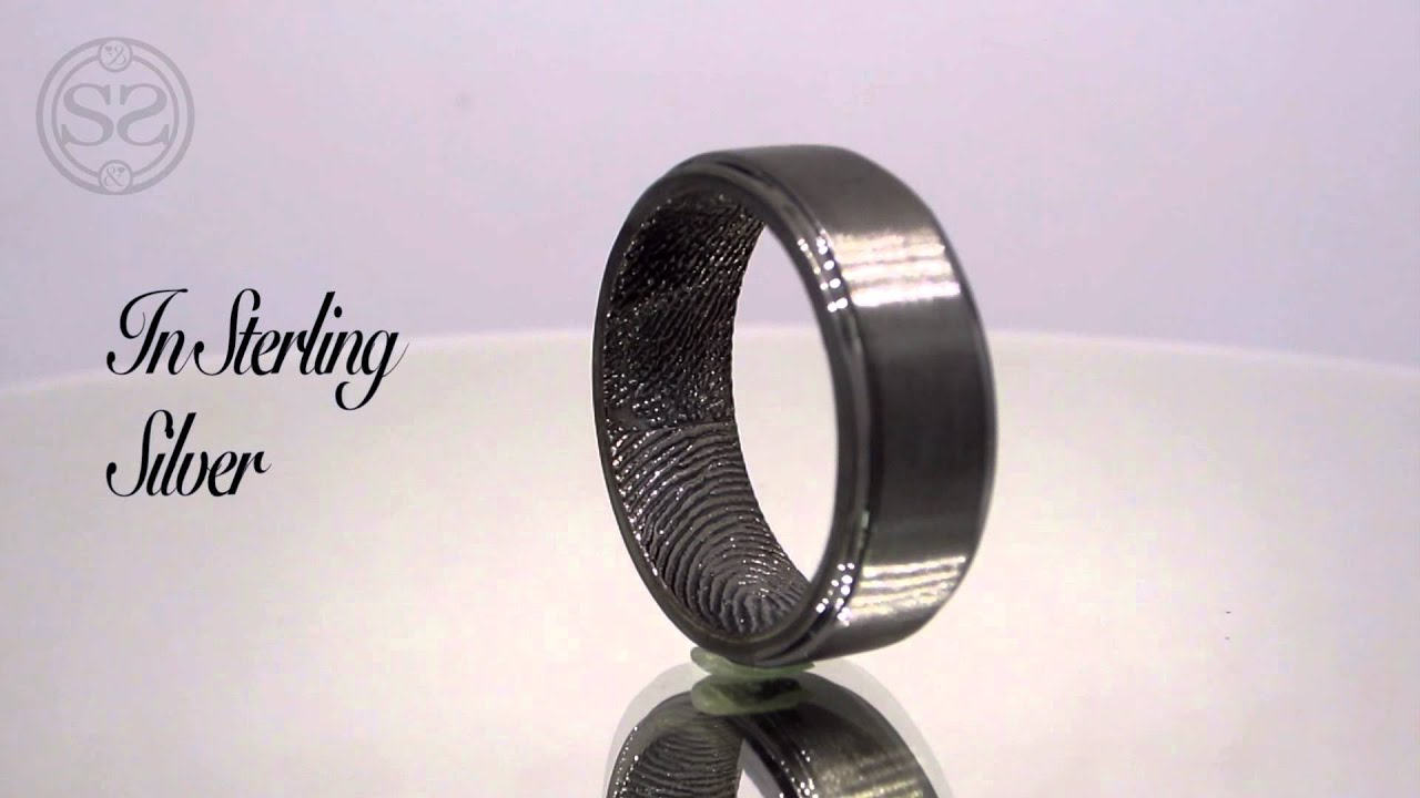 wedding ring fingerprint fingerprint wedding band Wedding ring fingerprint Lovemark Custom Men S Fingerprint Wedding Band