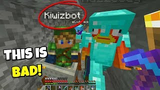 kiwiz joined our minecraft server... and this happened..