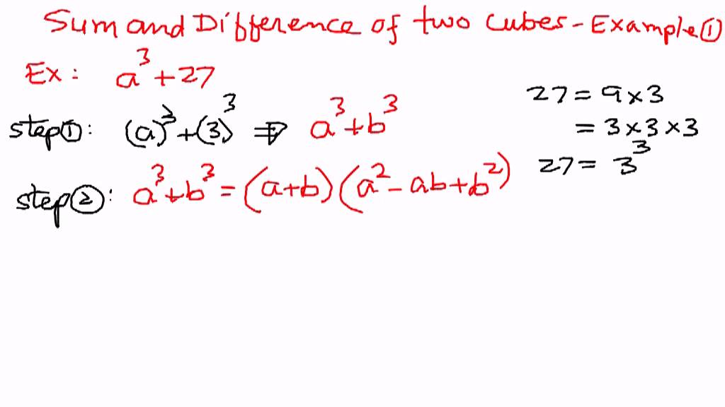 Sum or difference of cubes.