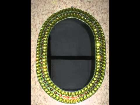 mirror decoration craft - YouTube