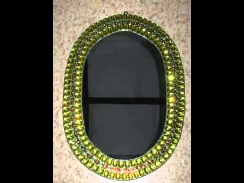 mirror decoration craft - YouTube