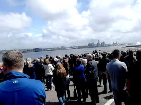 3 Cunard Queens 175 River Mersey Wirral View and Red Arrows