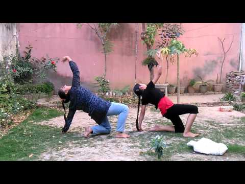 Cool dance by Noor and Tavleen.. O re manva tu bawra hai......