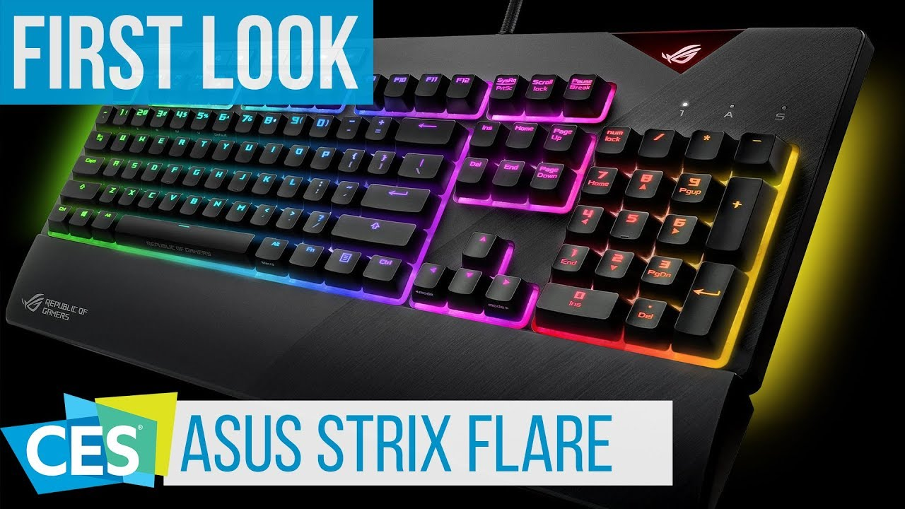 ASUS ROG Strix Flare Keyboard First Look  CES2018 - YouTube ecc0a3bc3fbf9
