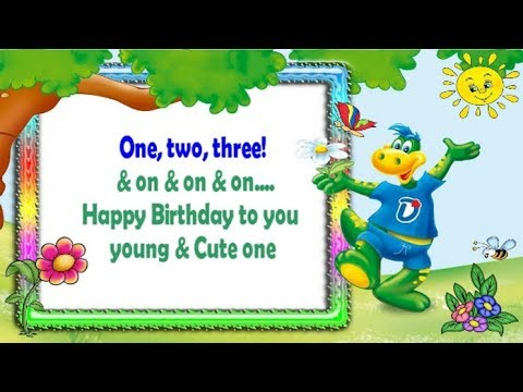 3rd Birthday Wishes Happy Birthday 3 Year Old Youtube