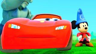Mickey Mouse Lightning McQueen Monster Trucks Cars Songs for Kids Nursery Rhymes