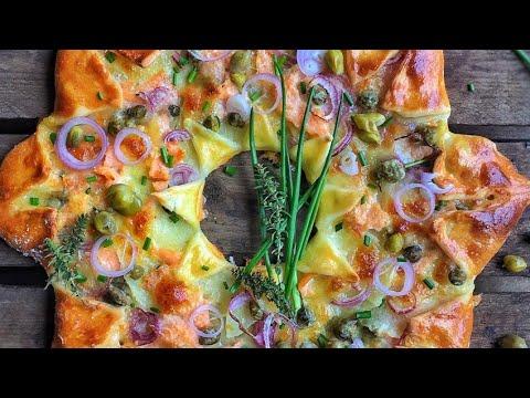 recette-:-pizza-étoile-au-saumon