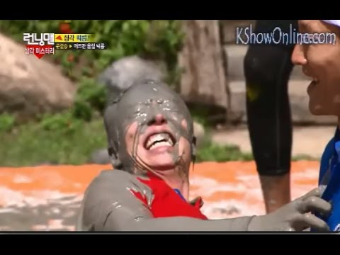 Poor Jae Suk Badly Treated By Jong Kook With Mud On Face - RUNNING MAN EP 209
