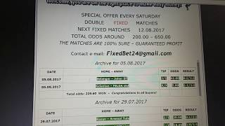 Double Fixed Matches 05.08.2017