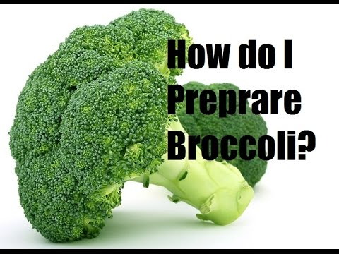 How to cut and clean Broccoli - French cooking techniques