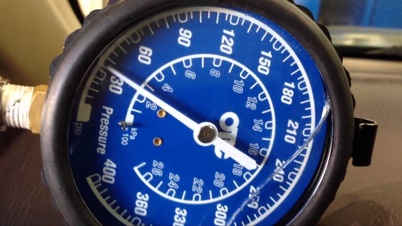 Subaru 2000 4EAT idle line pressure test