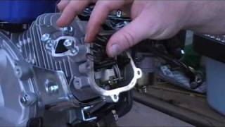 6.5 hp Honda Clone replacing spring, setting valve lash