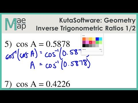 KutaSoftware: Geometry- Inverse Trigonometric Ratios Part 1 ...
