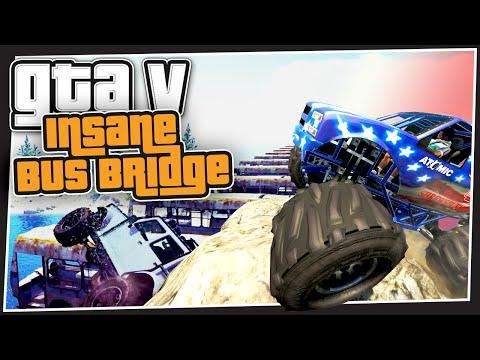 GTA 5 Online - Insane Bus Bridge (GTA Custom Games)
