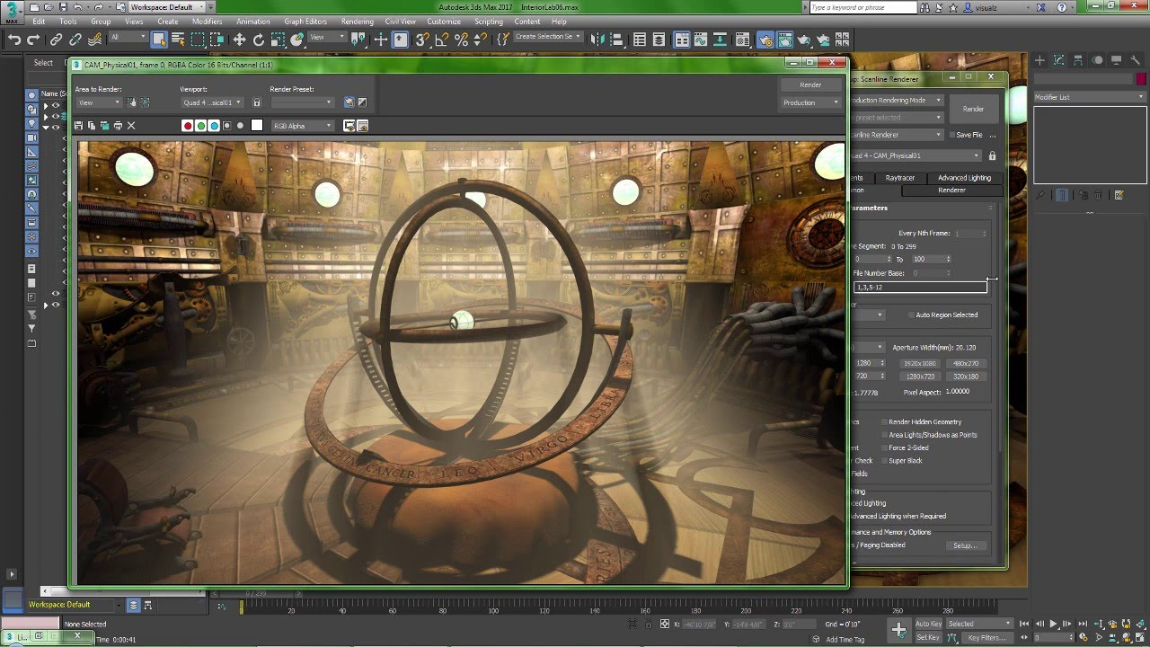 Line Drawing Render 3ds Max : Autodesk ds max multi threading the scanline