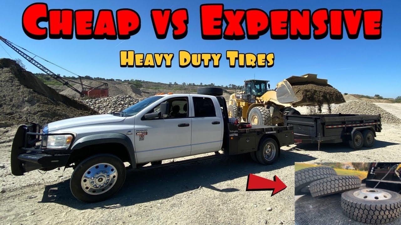 Huge Upgrade for the Dump trailer! 14 ply tires. Should come standard!