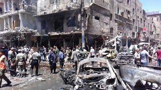 تفجيران انتحاريان قرب ساحة العاصي وسط حماة