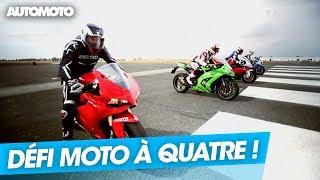 Défi 300km/h : Kawasaki ZX10R vs Suzuki 1000 GSX-R vs BMW S1000RR vs Ducati 1199 Panigale