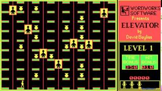 Elevator gameplay (PC Game, 1986)