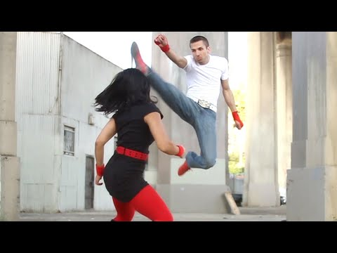 Ninja Girl vs Kickboxing Guy | Martial Arts Action Scene