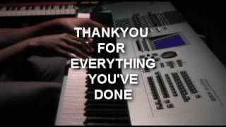 I Want To Say Thank You - Lisa Page Brooks Piano Cover Instrumental
