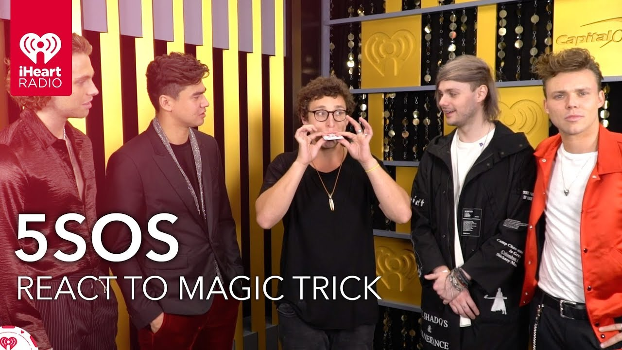 5SOS Hilarious Reaction To Magic Trick | 2018 iHeartRadio Music Festival