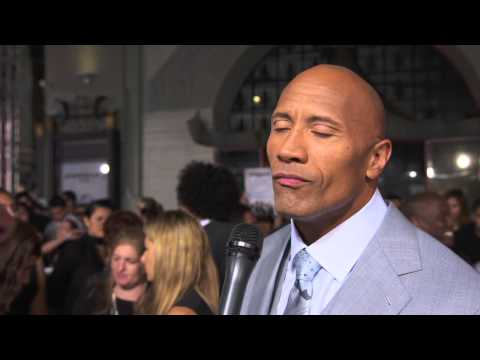 Furious 7: Dwayne The Rock Johnson Official Red Carpet Movie Premiere Interview