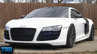 homepage tile video photo for This Supercharged Audi R8 V10 is MIND BLOWING! (Why I Want One)