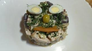 Салат с фасолью и мясом / Салат Брутальный / Вкусный салат рецепт