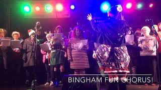 Fun Chorus at Bingham Christmas Market