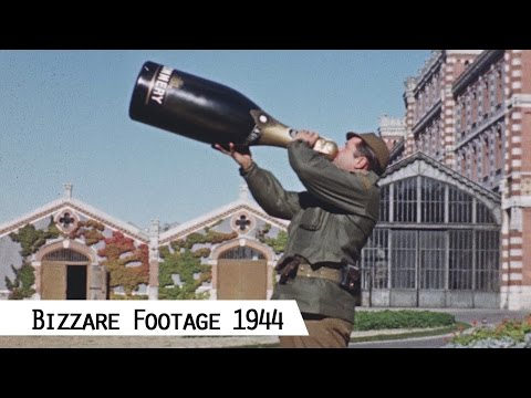 Bizzare Szenes in 1944/45 - Western Allies in Europe (in color and HD)