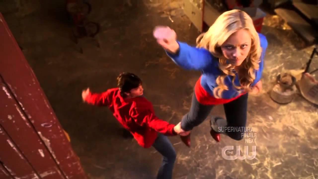 Supergirl laura vandervoort returns to smallville today