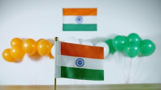 Closeup of beautiful festival decorations for Independence/Republic Day in India
