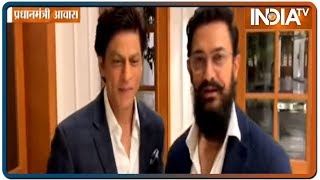 SRK and Aamir Khan laud PM Modi for popularizing Gandhiji's ideals