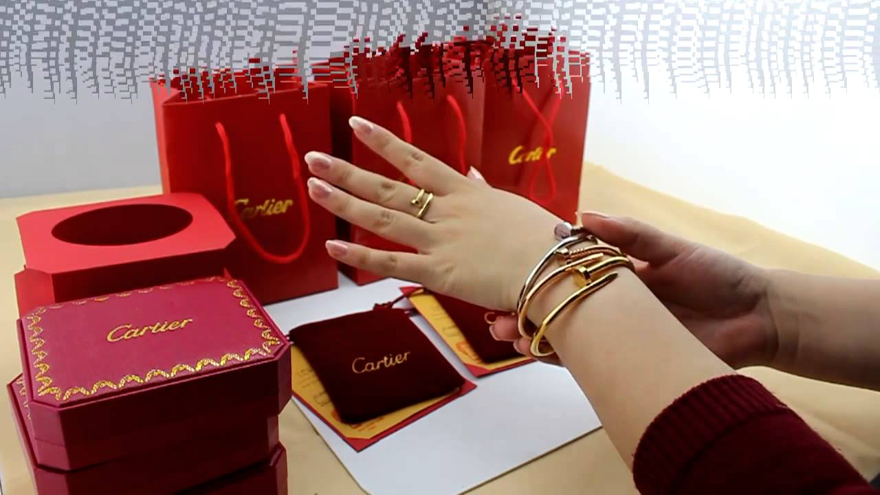 1:1 Cartier nail bracelet yellow gold white gold pink gold ...