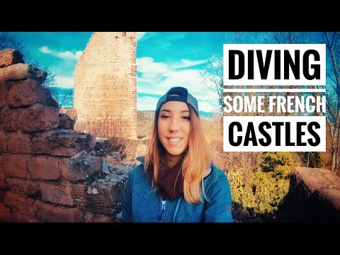 DIVING SOME RUINS OF MIDDLE AGES FRENCH CASTLES