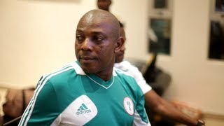 Rare Super Eagles Pre-game Team-Talk by Stephen Keshi