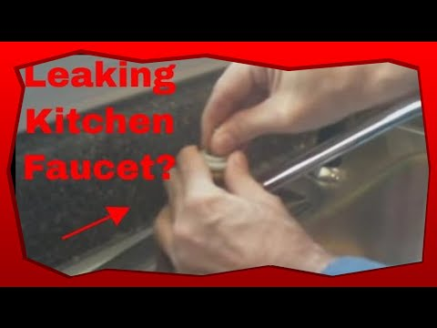 kitchen sink plumbing repair how to repair a leaking kitchen faucet 5907