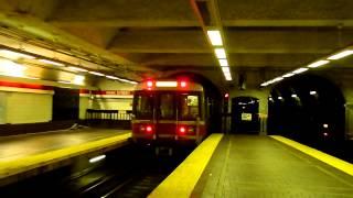 MBTA Red Line trains at Park Street