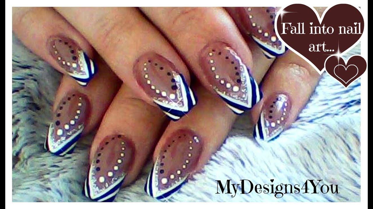 abstract nail art tutorial black