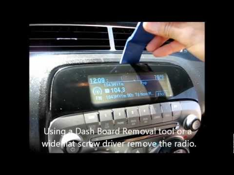 How to remove radio / CD changer from 2010 Camaro for repair