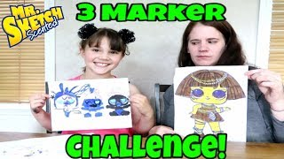 LOL Surprise 3 Marker Challenge With My Mom! 3 Marker Challenge With Mr. Sketch Markers