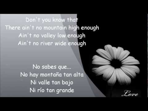 MARVIN GAYE & TAMMI TERRELL. Ain`t no mountain high enough lyrics english and spanish.wmv