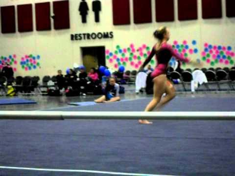 Corie Hutchison-Level 7 Gymnastics Floor Routine - YouTube
