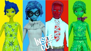 INSIDE OUT Inspired Makeovers for Disney Princess Anna Elsa play doh videos